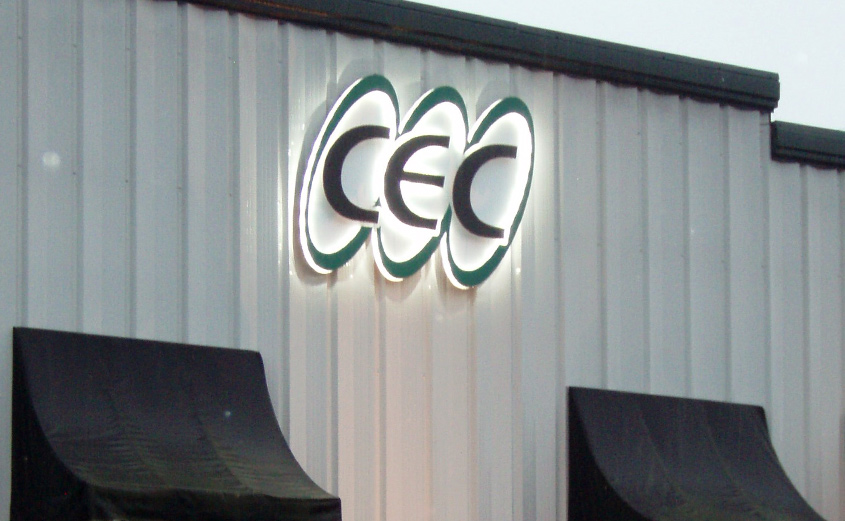 CEC Logo Building Sign